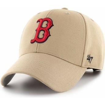 Boné curvo khaki ajustável MVP da Boston Red Sox MLB da 47 Brand