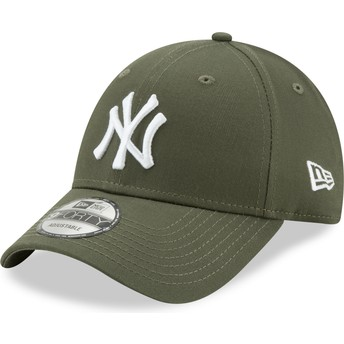 Boné curvo verde ajustável 9FORTY League Essential da New York Yankees MLB da New Era