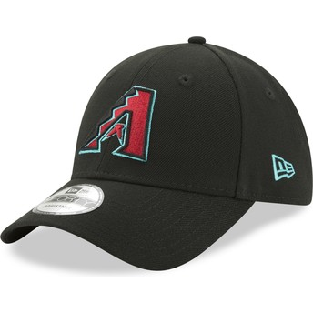 Boné curvo preto ajustável 9FORTY The League da Arizona Diamondbacks MLB da New Era