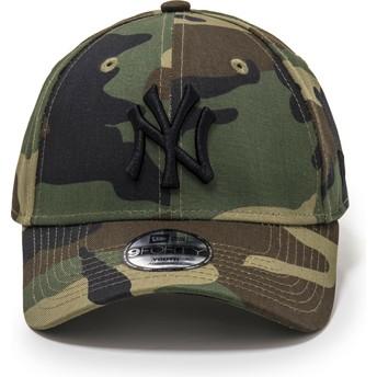 Boné curvo camuflagem ajustável para criança 9FORTY League Essential da New York Yankees MLB da New Era
