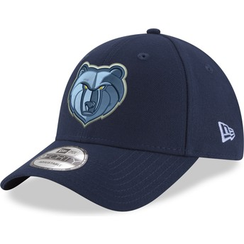 Boné curvo azul ajustável 9FORTY The League da Memphis Grizzlies NBA da New Era