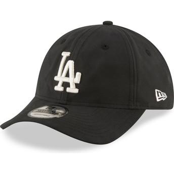 Boné curvo preto ajustável 9TWENTY Nylon Packable da Los Angeles Dodgers MLB da New Era