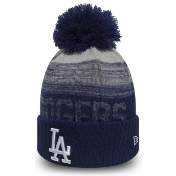 Gorro azul com pompom Cuff Knit Sport da Los Angeles Dodgers MLB da New Era