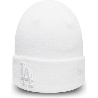 Gorro branco Cuff Knit League Essential da Los Angeles Dodgers MLB da New Era