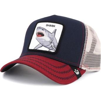 Boné trucker azul marinho tubarão Big Shark da Goorin Bros.