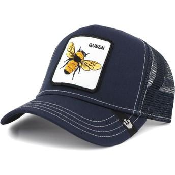 Boné trucker azul marinho abelha Fierce da Goorin Bros.