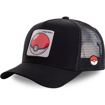 Boné trucker preto Poké Ball POK1 Pokémon da Capslab