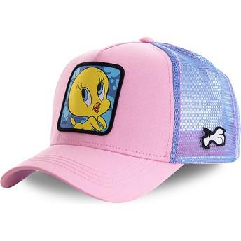 Boné trucker rosa e azul Piu-Piu TWE1 Looney Tunes da Capslab