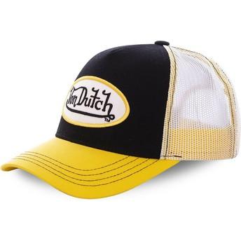 Boné trucker preto e amarelo COL BLA da Von Dutch
