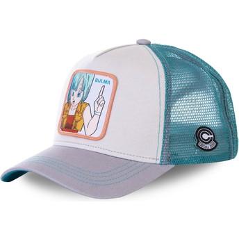 Boné trucker branco, azul e cinza Bulma BUL1 Dragon Ball da Capslab