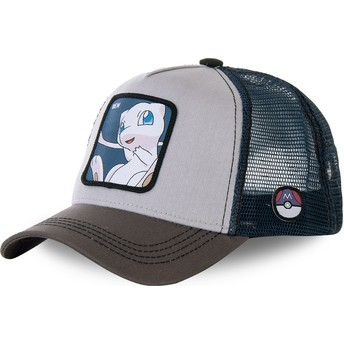 Boné trucker cinza e azul Mew MEW1 Pokémon da Capslab