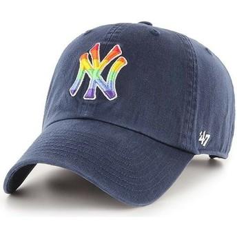 Boné curvo azul marinho ajustável da New York Yankees MLB Clean Up Pride da 47 Brand