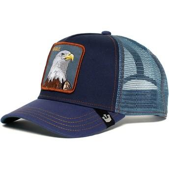 Boné trucker azul marinho águia Eagle da Goorin Bros.