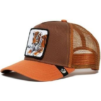 Boné trucker castanho para criança tigre Wild Tiger da Goorin Bros.