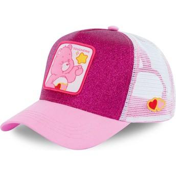Boné trucker rosa purpurina Love-a-lot CHE02 Os Ursinhos Carinhosos da Capslab