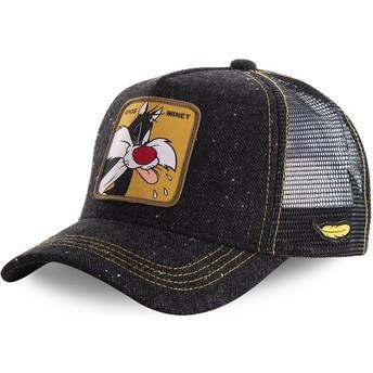 Boné trucker preto Sylvester LOOMIN1 Looney Tunes da Capslab