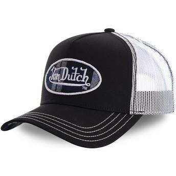 Boné trucker preto e branco CARD1 da Von Dutch