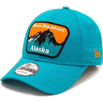 Boné curvo azul ajustável 9FORTY USA Patch Alaska Mount Blackburn da New Era