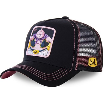 Boné trucker preto e rosa Buu BIG3 Dragon Ball da Capslab