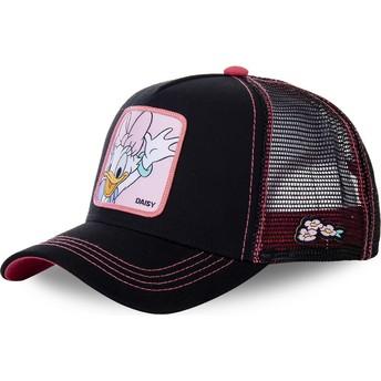 Boné trucker preto e rosa Margarida DAI2 Disney da Capslab