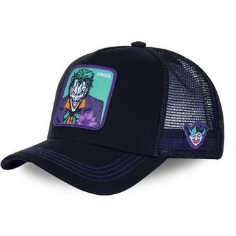 Boné trucker preto e violeta Joker JKR2 DC Comics da Capslab
