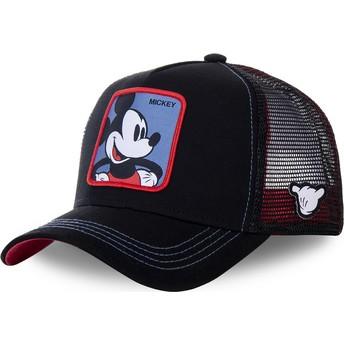 Boné trucker preto Mickey Mouse MIC2 Disney da Capslab