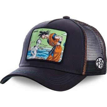 Boné trucker azul marinho Goku Vs Frieza Namek NAM3 Dragon Ball da Capslab