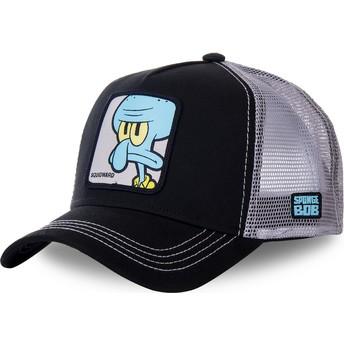 Boné trucker preto e cinza Lula Molusco Tentáculos SQU SpongeBob SquarePants da Capslab