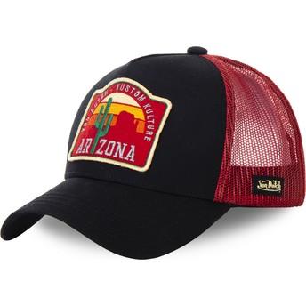 Boné trucker preto e vermelho Arizona AZ2 da Von Dutch