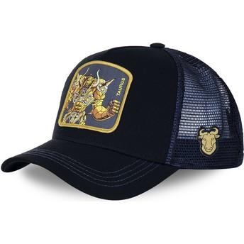 Boné trucker preto e azul Touro TAU Saint Seiya: Os Cavaleiros do Zodíaco da Capslab