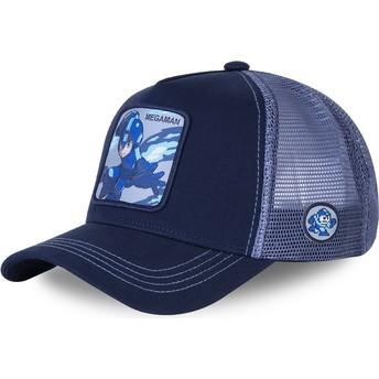 Boné trucker azul Mega Man HER3 da Capslab