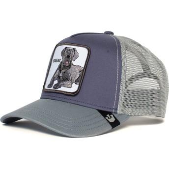 Boné trucker cinza cão dogue alemão Big D da Goorin Bros.