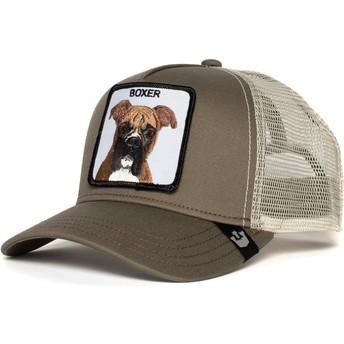 Boné trucker cinza cão Boxer da Goorin Bros.