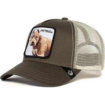 Boné trucker cinza cão Pitbull da Goorin Bros.