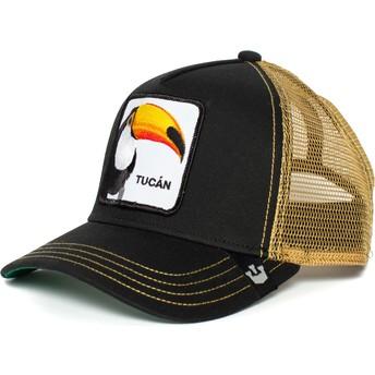 Boné trucker preto e dourado tucano Tucan da Goorin Bros.