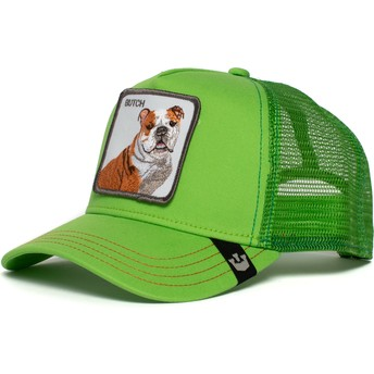 Boné trucker verde cão bulldog Big Butch da Goorin Bros.