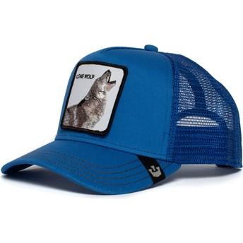 Boné trucker azul lobo Strong Wolf da Goorin Bros.