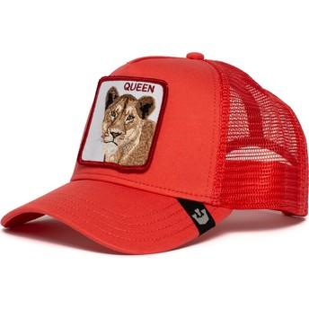Boné trucker vermelho leoa Strong Queen da Goorin Bros.