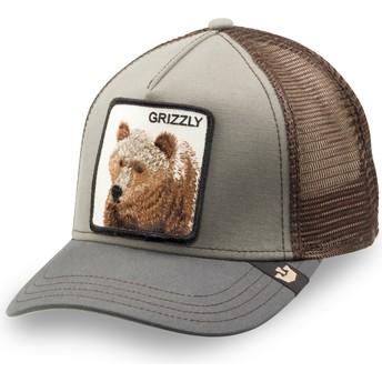 Boné trucker verde para criança urso Little Grizzly da Goorin Bros.