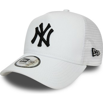 Boné trucker branco com logo preto Essential A Frame da New York Yankees MLB da New Era