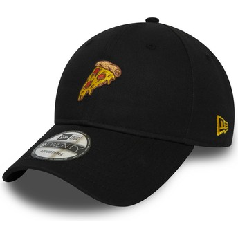 Boné curvo preto ajustável 9TWENTY Pizza da New Era