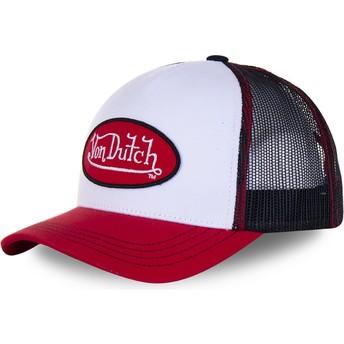Boné trucker branco, preto e vermelho BBR da Von Dutch