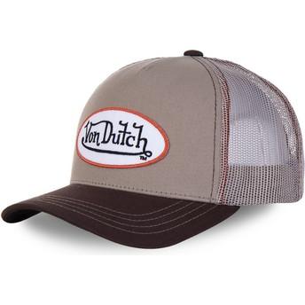 Boné trucker castanho BRO da Von Dutch