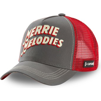 Boné trucker cinza e vermelho Merrie Melodies ALL2 Looney Tunes da Capslab