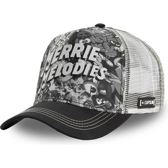 Boné trucker preto e branco Merrie Melodies BAW1 Looney Tunes da Capslab