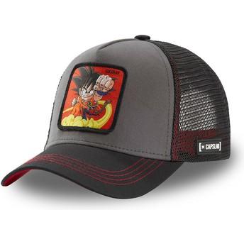 Boné trucker cinza e preto Son Goku Criança GOK4 Dragon Ball da Capslab