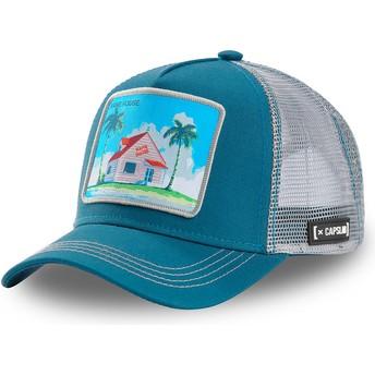 Boné trucker azul e cinza Kame House HOU3 Dragon Ball da Capslab