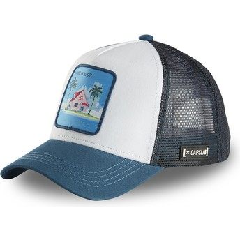 Boné trucker branco e azul Kame House HOU2 Dragon Ball da Capslab