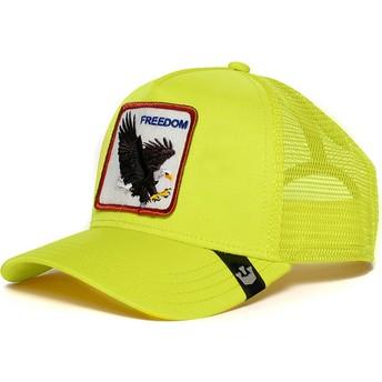 Boné trucker amarelo águia Freedom da Goorin Bros.