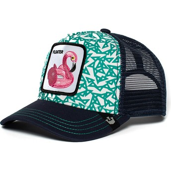 Boné trucker azul flamingo flutuador Clothing Optional da Goorin Bros.